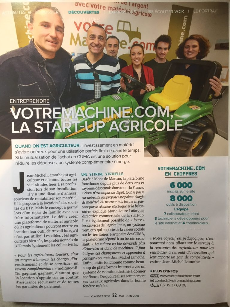 VotreMachine.com, la start up agricole